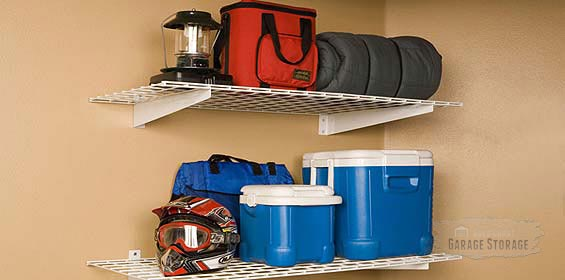 Fixed Garage Shelving can hold some weight